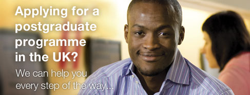 Applying for a postgraduate programme in the UK? We can help you every step of the way...